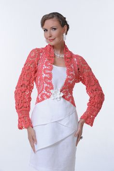 Bruges crochet lace bolero