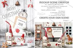 Christmas Mockup Scene Creator by elfivetrov on @creativemarket
