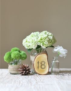succulent table numbers | wooden table numbers for wedding