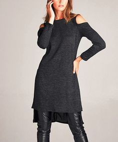 Another great find on #zulily! Charcoal Sleeveless Hi-Low Tunic #zulilyfinds
