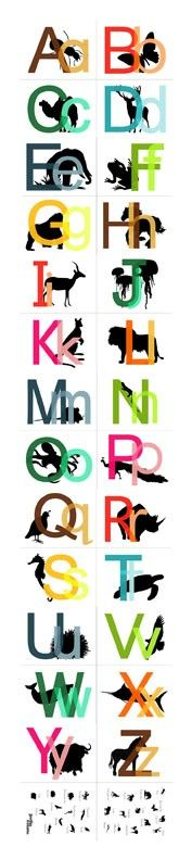 Peeking Animals  LARGE Printable Alphabet by SnappyPrintables, $4.50
