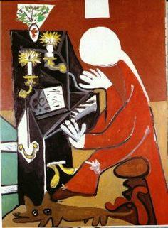 """surrealism-love: """" The piano (Velazquez), 1957, Pablo Picasso Size: 130x97 cm"""""""