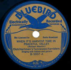 Bluebird vintage record label by SCVHA, via Flickr