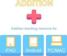 Addition Teaching and Learning iPad Android IWB resources Interactive Whiteboard, Interactive Activities, Teaching Math, Maths, Teaching Ideas, Math Sites, Digital Literacy, Math Help, Instructional Design