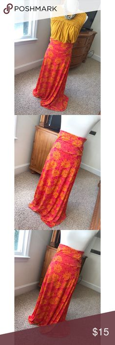 LuLaRoe maxi skirt - Size XS. Brand new. - I don't trade or sell outside of posh. - I ship every single day!  - All items come from a smoke free home!  - If you have anymore questions just let me know and I would be happy to help! 🙂 LuLaRoe Skirts Maxi