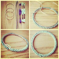 DIY Bracelet: repurposing bangles!