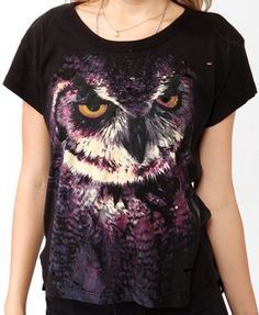 Destroyed Owl Graphic Tee   FOREVER21 - 2018317212