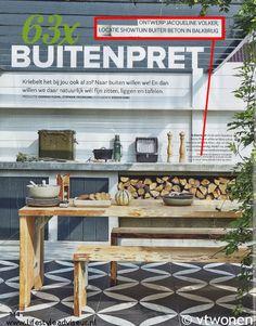 'Binnen-Buitentuin' gepubliceerd in vtwonen magazine mei 2015. Ontwerp: © Jacqueline Volker Lifestyle Adviseur. Lokatie: Buiter Beton - Balkbrug.
