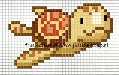 Turtle cross stitch. Looks like a sea turtle