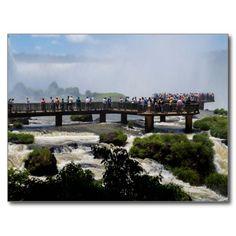 Postcard Iguaçu National Park closeup Brazil Carte Postale
