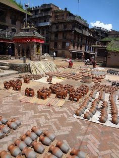 Pottery Square in Bhaktapur Nepal