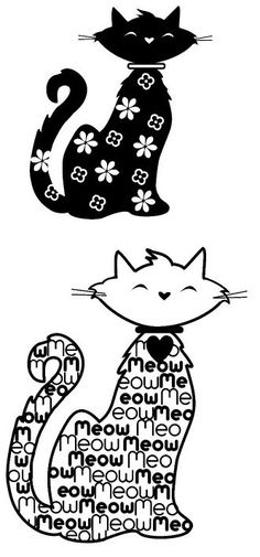 Gatos lindos para bordados em pedrarias