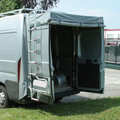 camper van rear doors | would be neat with screen as well.