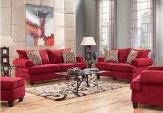 picture of Brookhaven Crimson 5Pc Classic Living Room from Living Room Sets Furniture