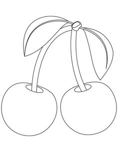 Strawberry pattern. Use the printable outline for crafts