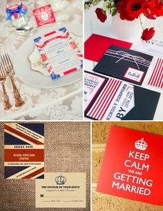 Great Britain themed Wedding Invite- because my boyfriend is English
