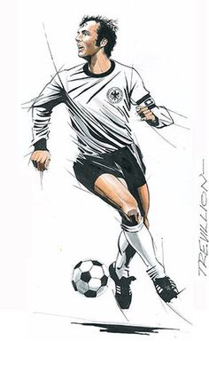Top spot: Franz Beckenbauer is the only man to win the World Cup as a player, captain and manager Football Icon, Football Art, World Football, Fifa, Soccer Photography, Soccer Art, Sports Graphic Design, Football Pictures, Football Wallpaper