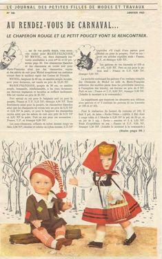 PAR AMOUR DES POUPEES :: M&T 1962-01 Marie-Françoise en Chaperon Rouge (couture)