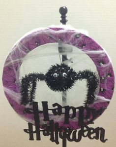 Joanns has this purtple duck tape to wrap the wreath too! Sooo easy