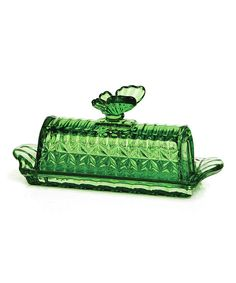 Look at this Green Butterfly Butter Dish on #zulily today!