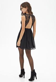 Surplice Lace Dress   Forever 21 - 2055880214