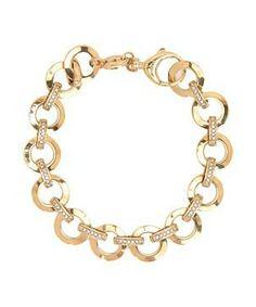 Fossil Glitz Charm Starter Bracelet #accessories  #jewelry  #bracelets  https://www.heeyy.com/suggests/fossil-glitz-charm-starter-bracelet-gold-black-diamond/