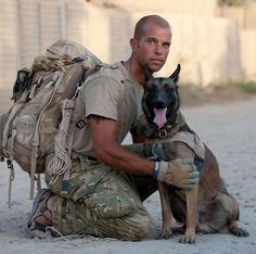 Military Dog and his hero