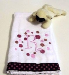 Polka Dot Alphabet Scribbles Baby Burp Cloth | KallieJosCottonPatch - Children's on ArtFire @Kallie's Cotton