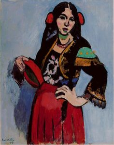 Henri Matisse, 1909, L'Espagnole (Spanish Woman with a Tambourine), oil on canvas, Pushkin Museum, Moscow