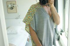 récup' #1 : la blouse kimono bicolore (+tuto)