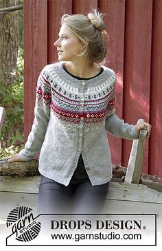 Ravelry: 181-15 Winter Berries Jacket pattern by DROPS design