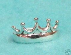 Beautiful Zeta Tau Alpha ZTA STERLING SILVER 5 Point Crown Ring - perfect jewelry piece - Big, Little Sis, Alumnae, New Members