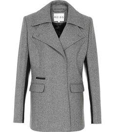 Reiss Mott Biker Style Wool Jacket | Coat, Jacket and Clothing