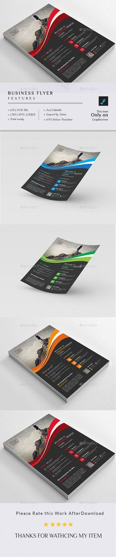 #Business #Flyer - Corporate Flyers Download here: https://graphicriver.net/item/business-flyer/18957758?ref=alena994