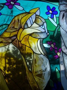Stained Glass Cat II by Tiger-Dream on deviantART