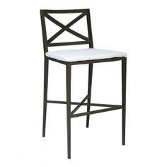 AZIMUTH CROSS BARSTOOL WITH BACK