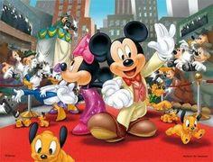 Mickey & Minnie walk the Red Carpet