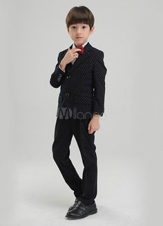 59ee9b9b1d8d Multicolor Trendy Boy's Suit Bow Tie Polyester Children's Suit #Boy, #Suit,  #