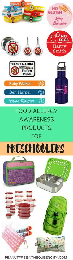 Here are my top picks for food allergy awareness products for younger children. Perfect for those attending daycare, preschool and kindergarten!