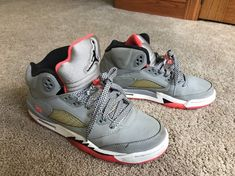 84b1d39437fb Nike Air Jordan V 5 Retro GG Hot Lava Red Cool Grey Black (440892-018) Size  7Y  fashion  clothing  shoes  accessories  kidsclothingshoesaccs  boysshoes  ...