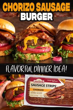 Burger Recipes, Mexican Food Recipes, Beef Recipes, Cooking Recipes, Yummy Recipes, Dinner Recipes, Grilled Cheese Restaurant, Breakfast Meat, Breakfast Recipes