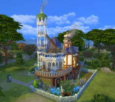 Mod The Sims: The Stargazer's House No CC by Velouriah • Sims 4 Downloads