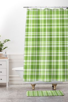 Lisa Argyropoulos Freshly Shower Curtain And Mat | DENY Designs Home Accessories