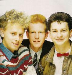 Depeche Mode 1980's:  Martin Gore, Andy Fletcher, Dave Gahan