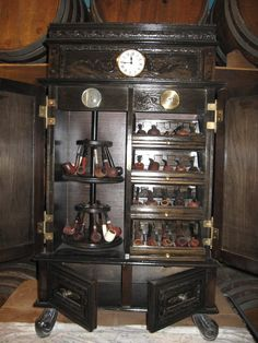 Instead of a pipe cabinet it can be a jewelry box. Put two shelves ...