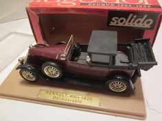 SOLIDO  DIECAST 1/43 GOLDEN AGE,1926 RENAULT 40 CV, W/ DISPLAY CASE & BOX #SOLIDO #RENAULT