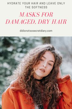 Masks For Damaged, Dry Hair, We all enjoy when our hair is shiny, beautiful, and healthy. But unfortunately, this is not always the case...find out more... #masks#dry#hair