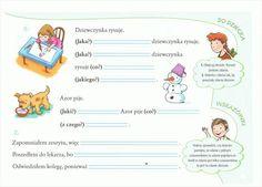 rzeczownik, przymiotnik Worksheets, School, Speech Language Therapy, Therapy, Activities, Literacy Centers, Countertops