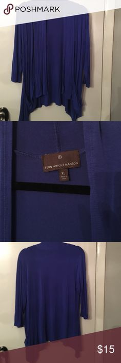 Fenn wright Manson blue sharkbite cardigan In very good condition Fenn Wright Manson Sweaters Cardigans