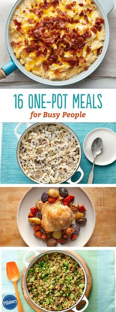 16 One-Pot Meals for Busy People: When it's all-in-one, somehow the whole thing tastes that much better. (Maybe it's because there are fewer dishes in the sink?)